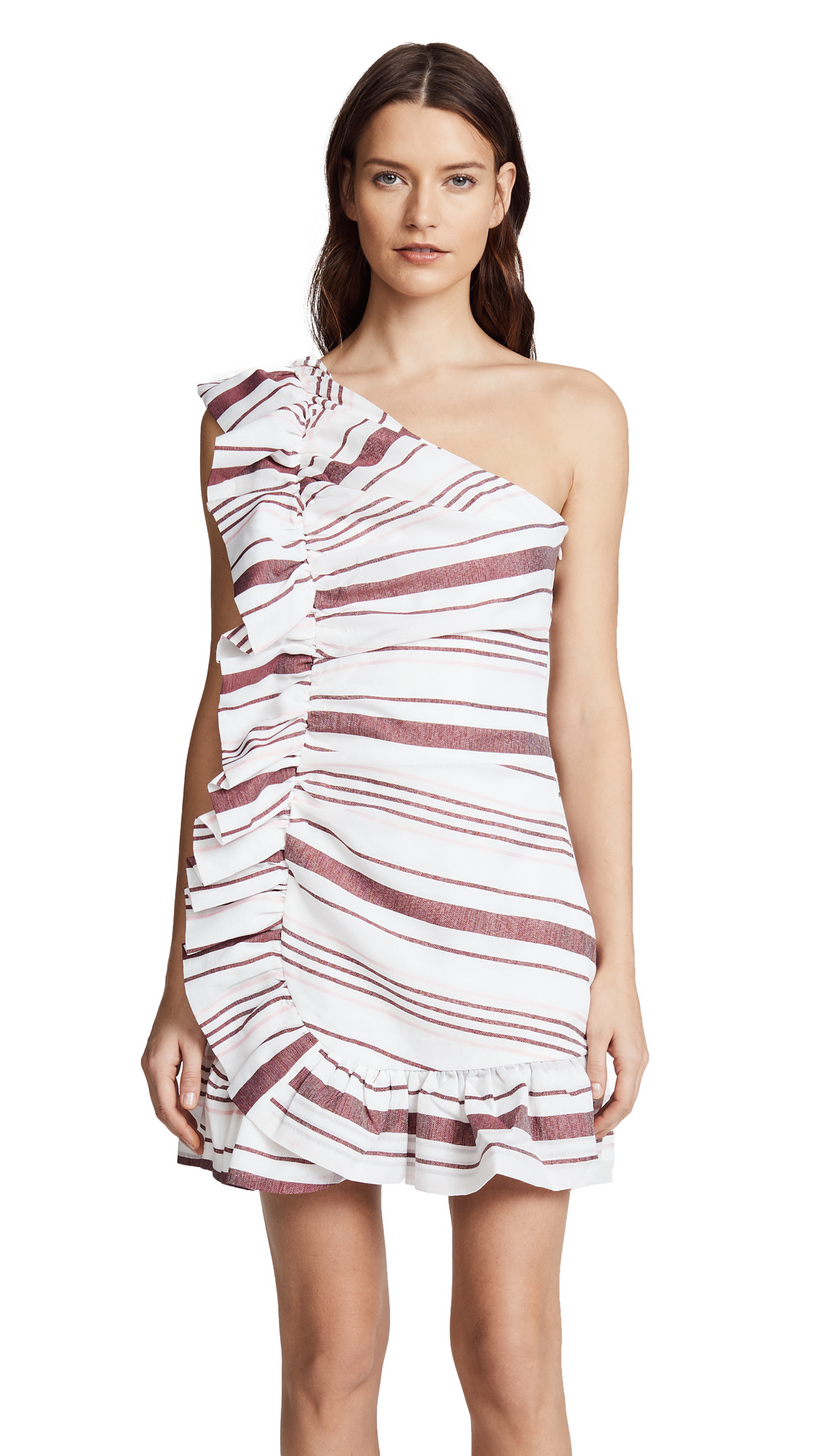 C/Meo Collective On Her Own Mini Dress - Ivory Stripe