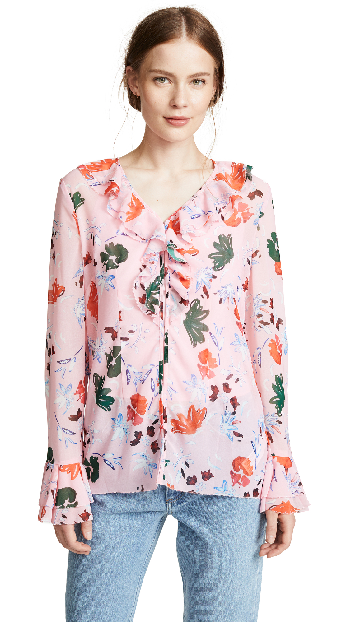 C/Meo Collective Elude Top In Pink Floral