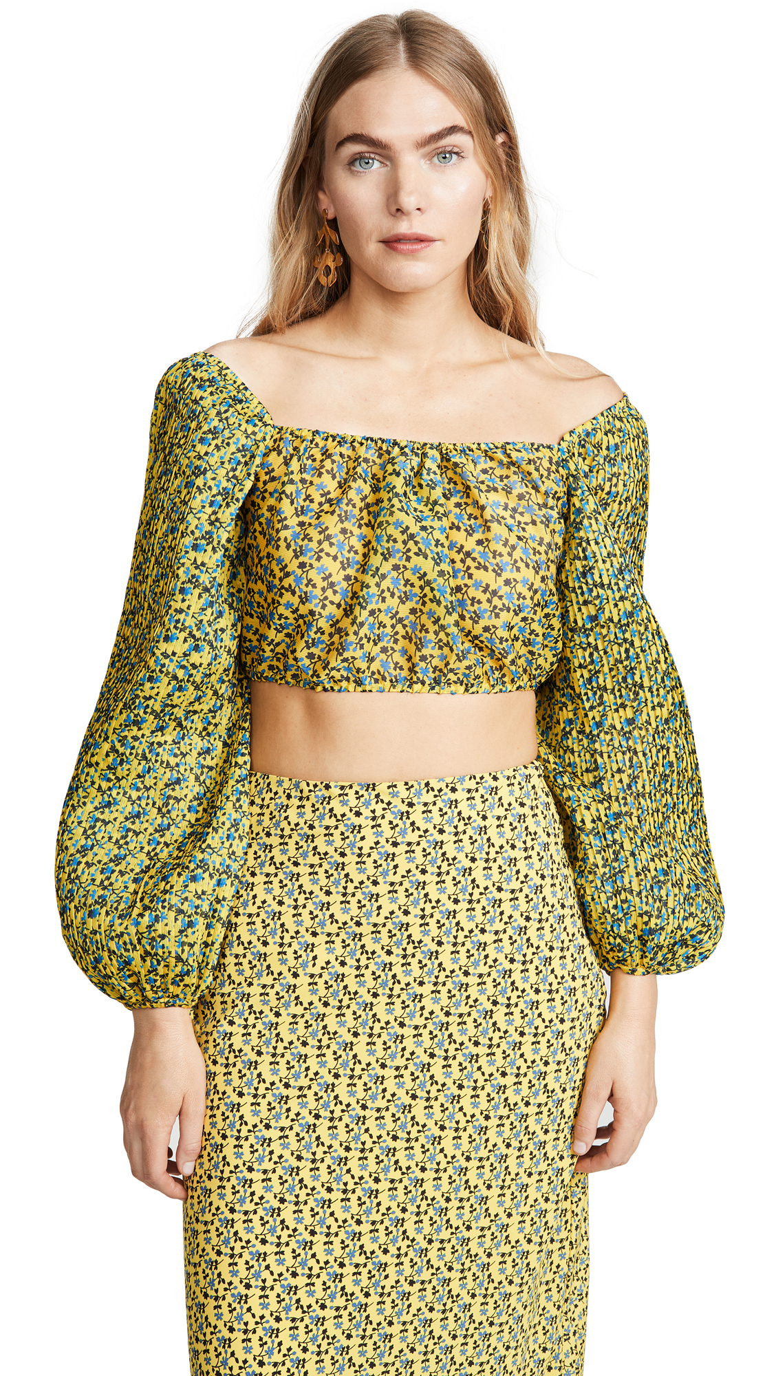 C/Meo Collective Come Across Top - Yellow Floral