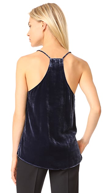 CAMI NYC The Racer Velvet Top