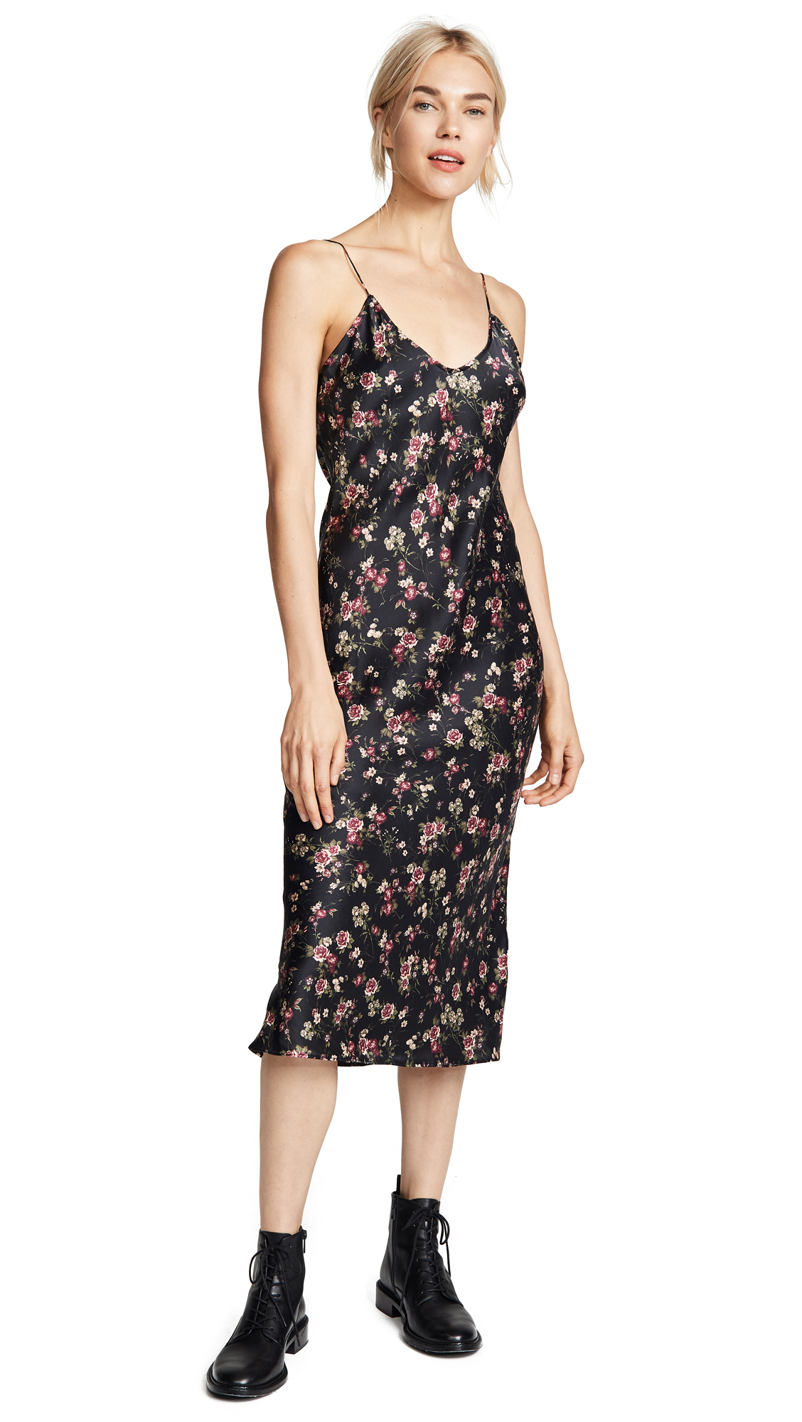 CAMI NYC Raven Dress In Dark Rose Print