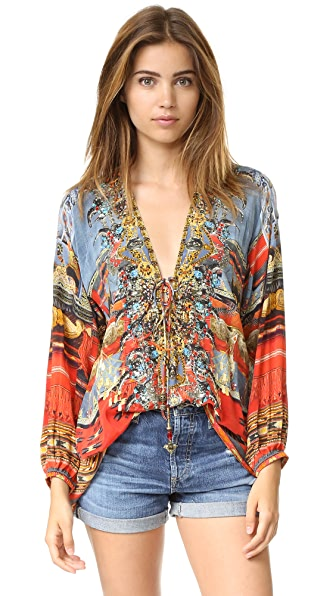 Camilla Wandress Lace Up Shirt
