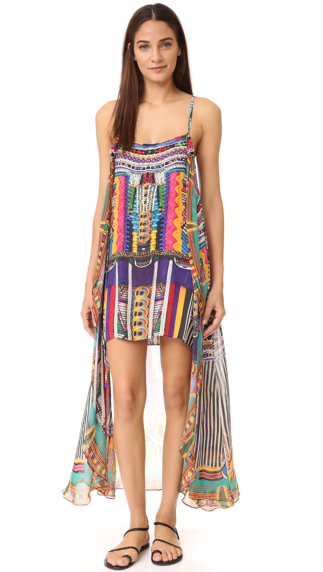 Camilla Woven Wonderland Mini Dress With Long Overlay - Woven ...