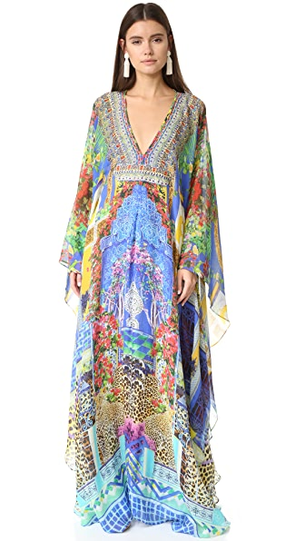 Camilla Long Caftan with Waist Tab