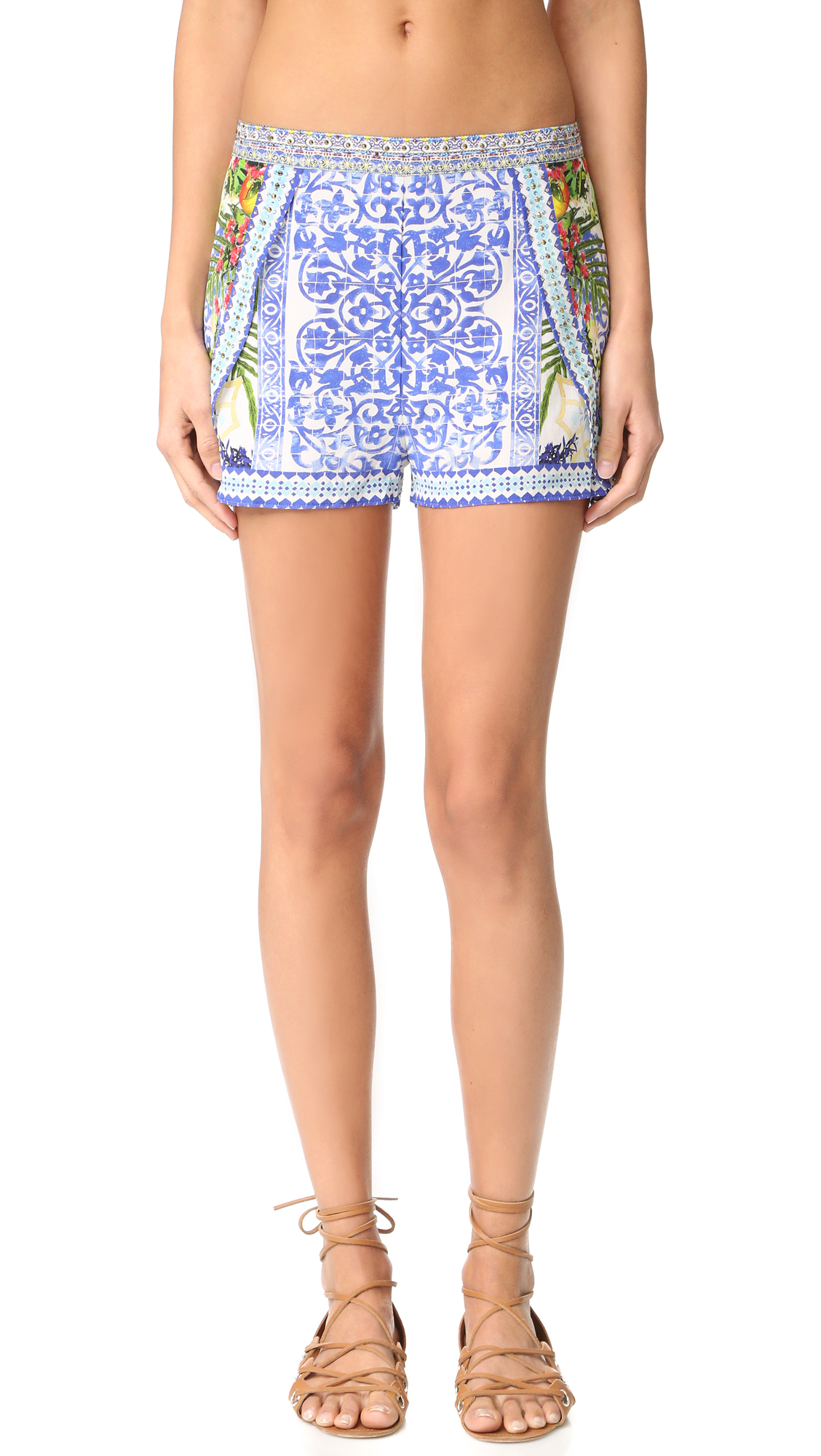 camilla female camilla waisted shorts with side overlay my majorelle