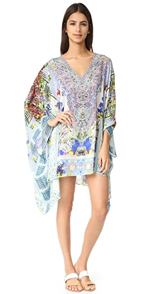 Camilla Split Shoulder Short Caftan at Shopbop