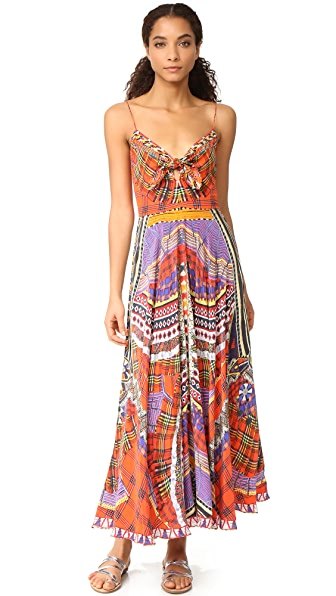 Camilla Long Dress with Tie Front