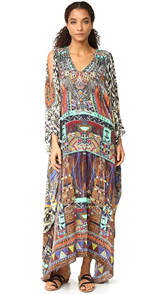 Camilla Split Front and Sleeve Kaftan