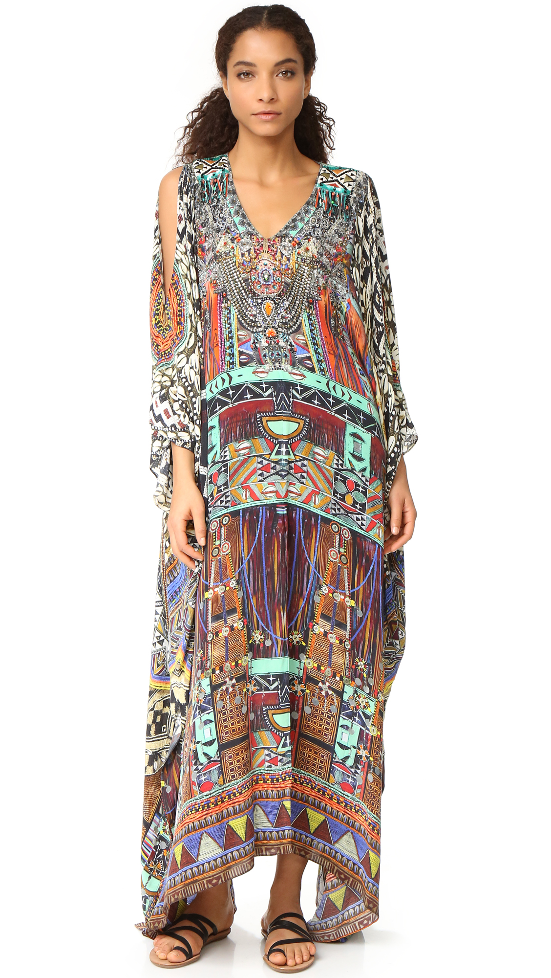 camilla female camilla split front and sleeve kaftan for wherever you wander