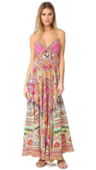 Camilla Длинное платье Hani Honey с завязками спереди