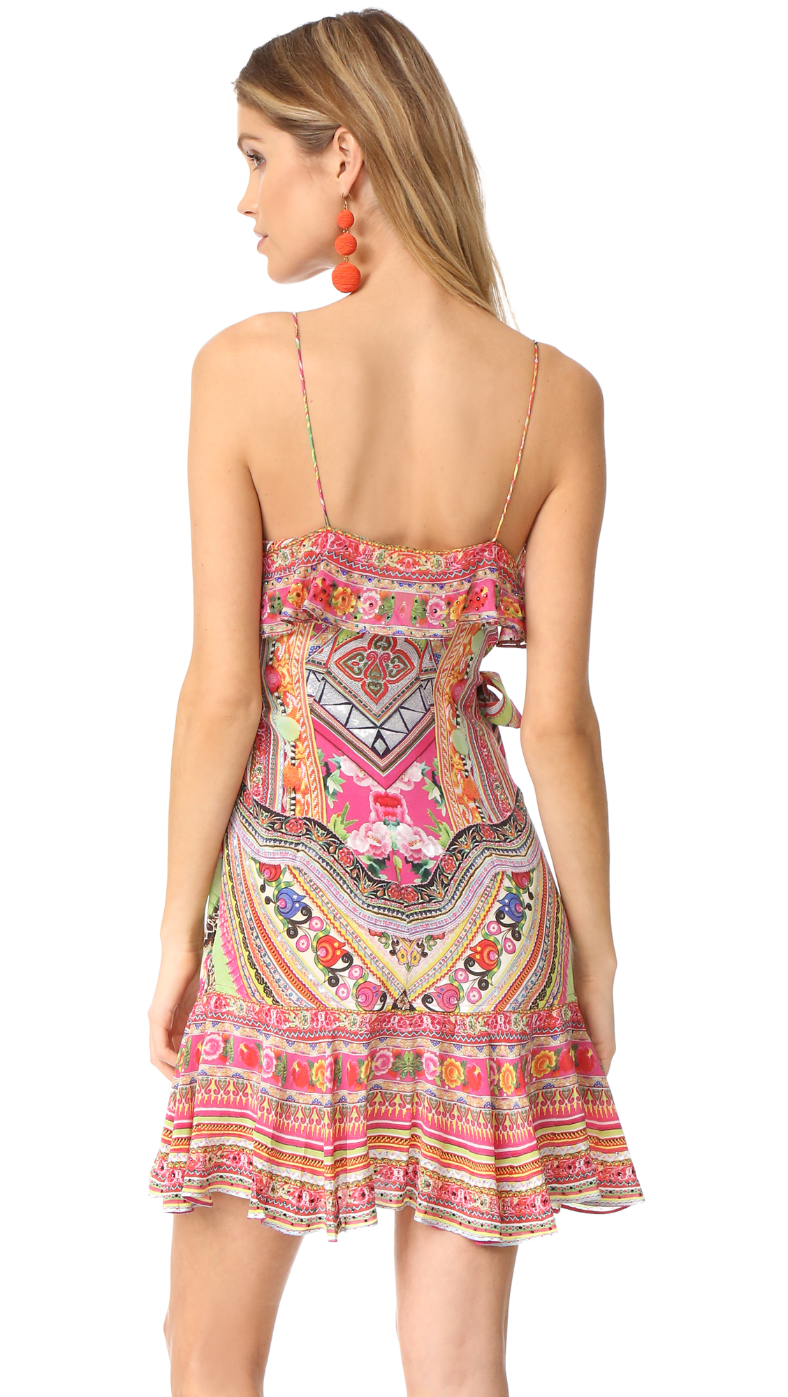 0c07b3d430e8 Camilla Hani Honey Wrap Frill Dress | SHOPBOP