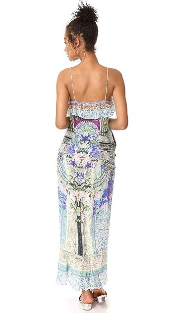 Camilla Long Wrap Frill Dress
