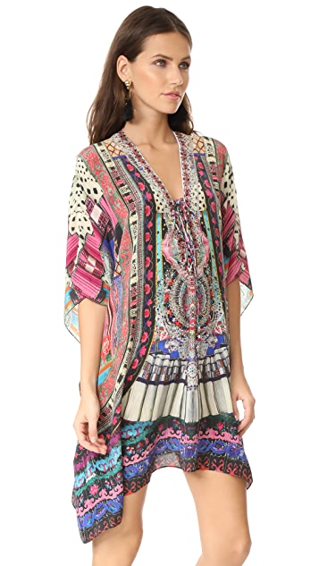Camilla About a Girl Short Lace Up Caftan