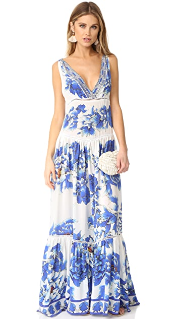 Camilla Ring of Roses Tiered Dress