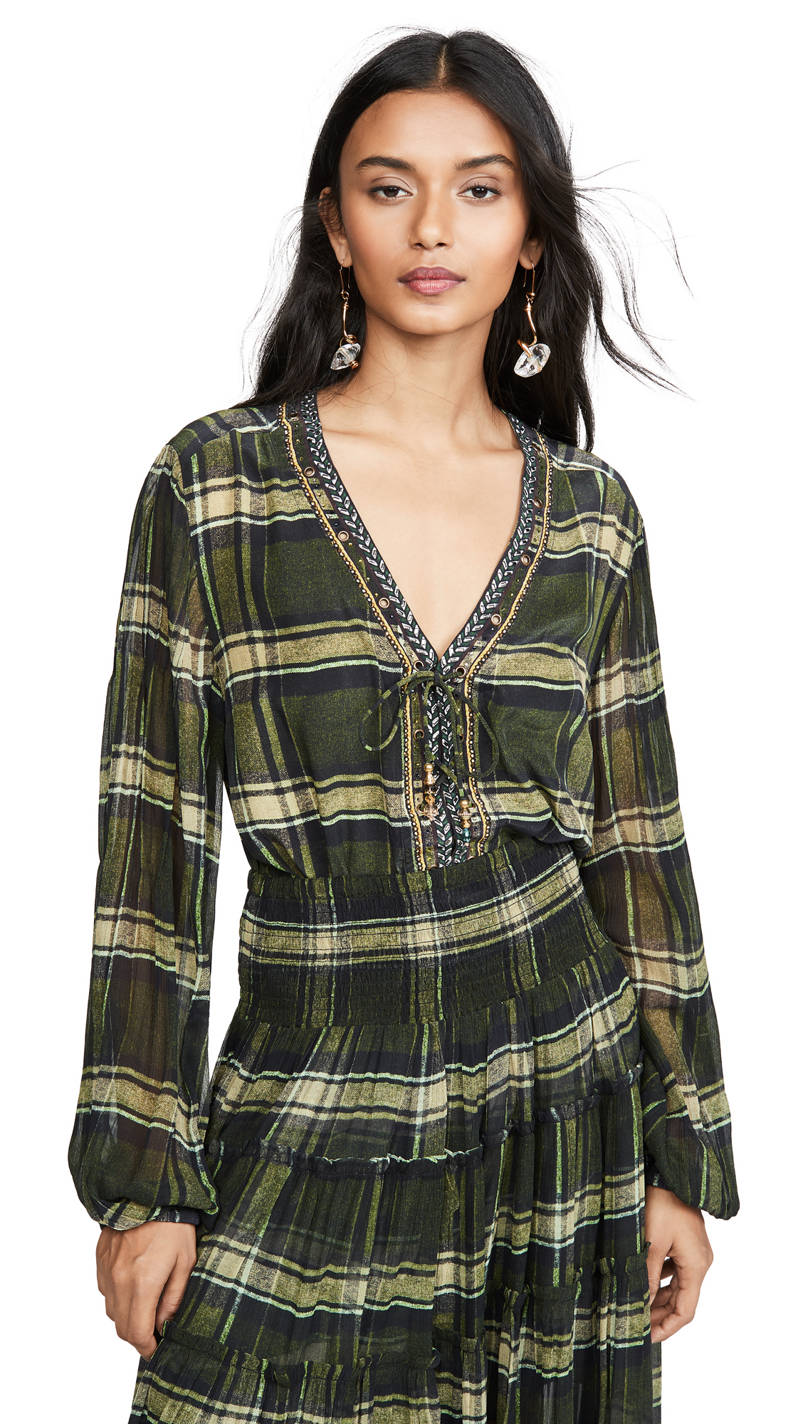 Buy Camilla online - photo of Camilla Peasant Blouse with Front Lacing