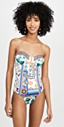 Camilla Ruched Bustier One Piece