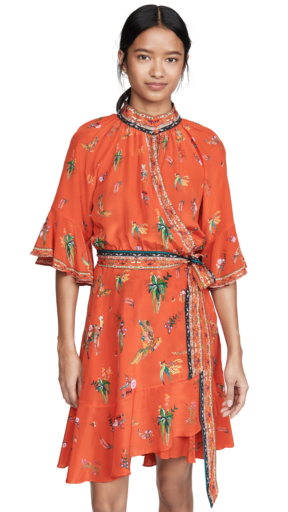 Camilla Raglan Sleeve Wrap Dress - 50% Off Sale