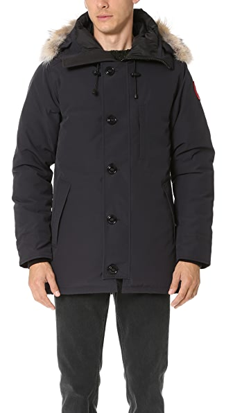 Canada Goose Chateau Parka With Fur - Navy