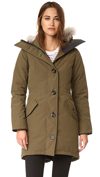 Canada Goose Rossclair Parka In Military Green