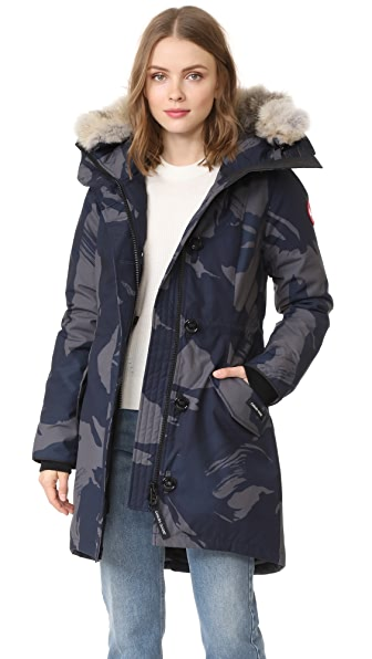 Canada Goose Rossclair Parka - Blue Brush Camo