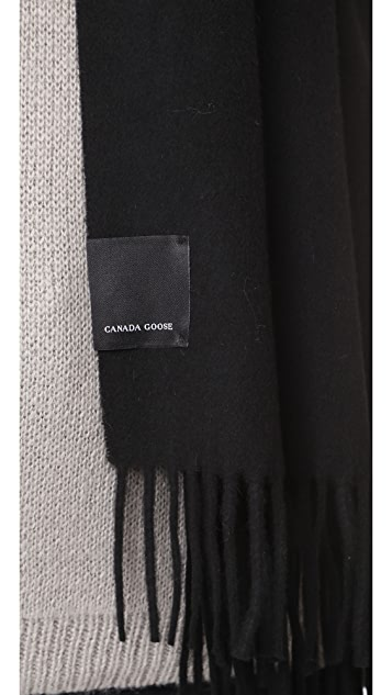 Canada Goose Solid Woven Scarf