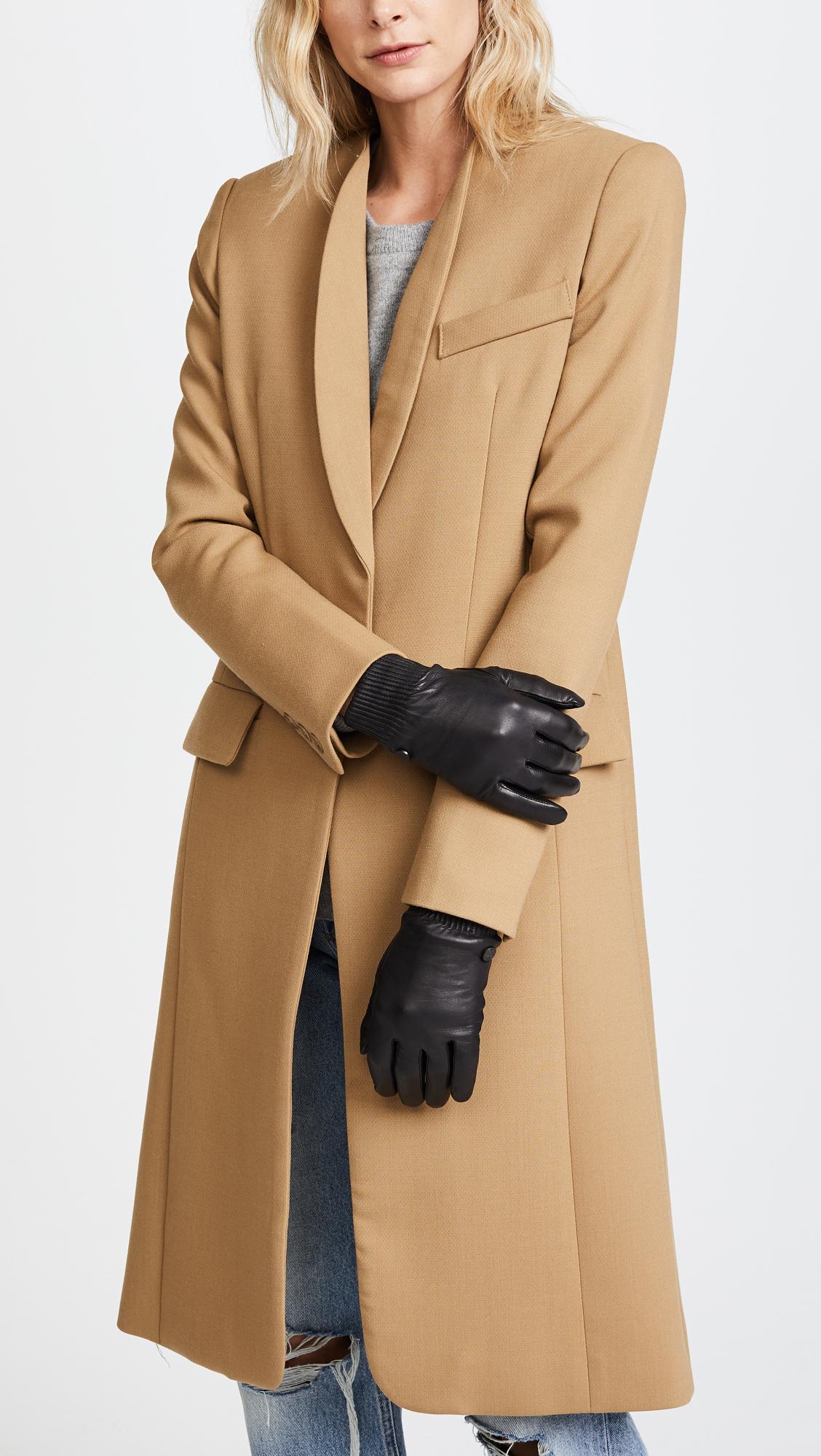 bd7dcd2b43de Canada Goose Leather Rib Tech Gloves
