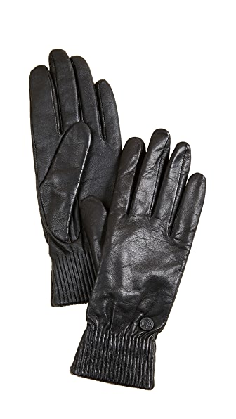 Canada Goose Leather Rib Tech Gloves