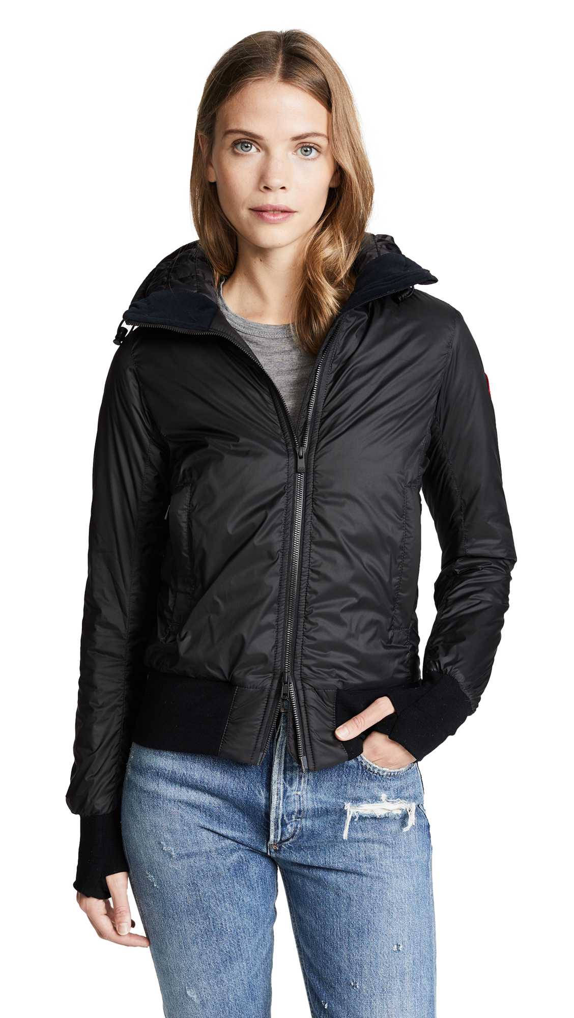 c361296dfbb4 discount code for canada goose camp hooded jacket black leather ...