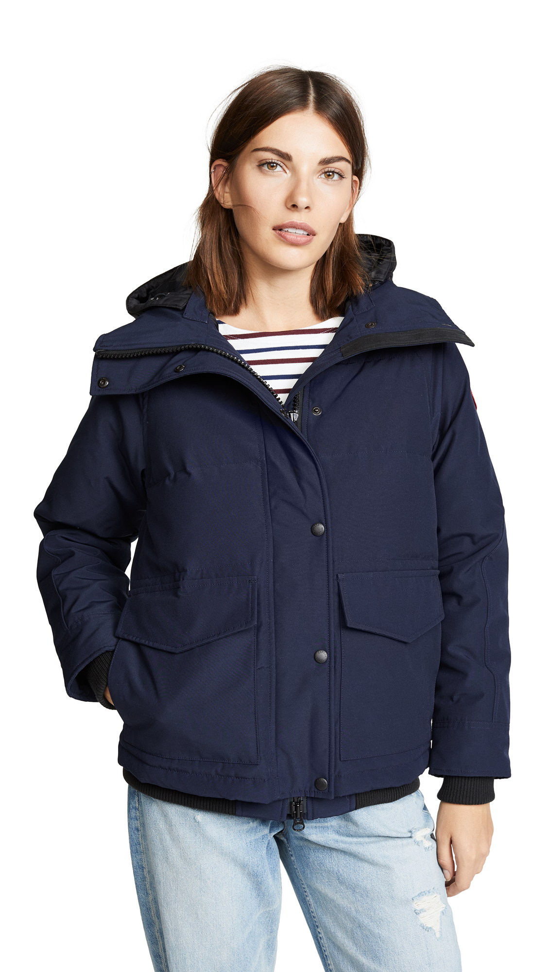 Deep Cove Quilted Shell Down Jacket in Blue