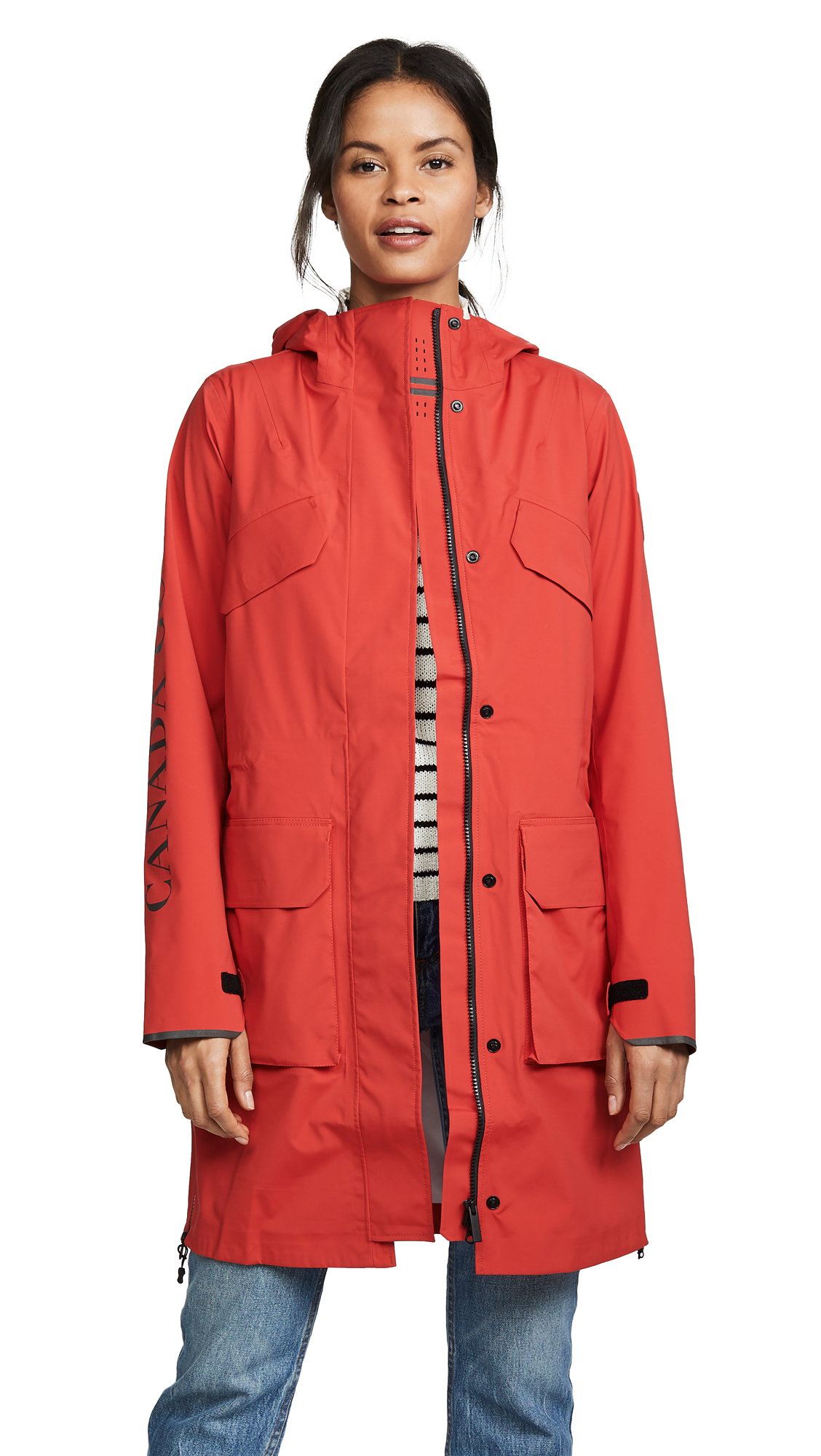 Canada Goose Seaboard Rain Jacket - Red