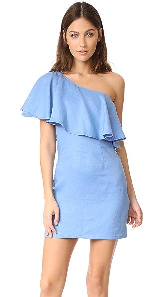 Capulet Clara One Shoulder Dress - Azure Blue