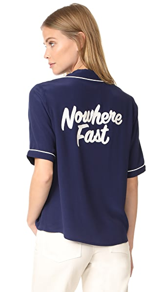 Capulet Lida Nowhere Fast Shirt In Navy/Ivory