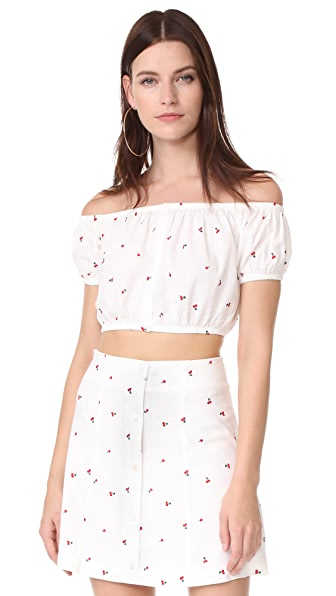 Capulet Elisa Off the Shoulder Top - Petite Cherry