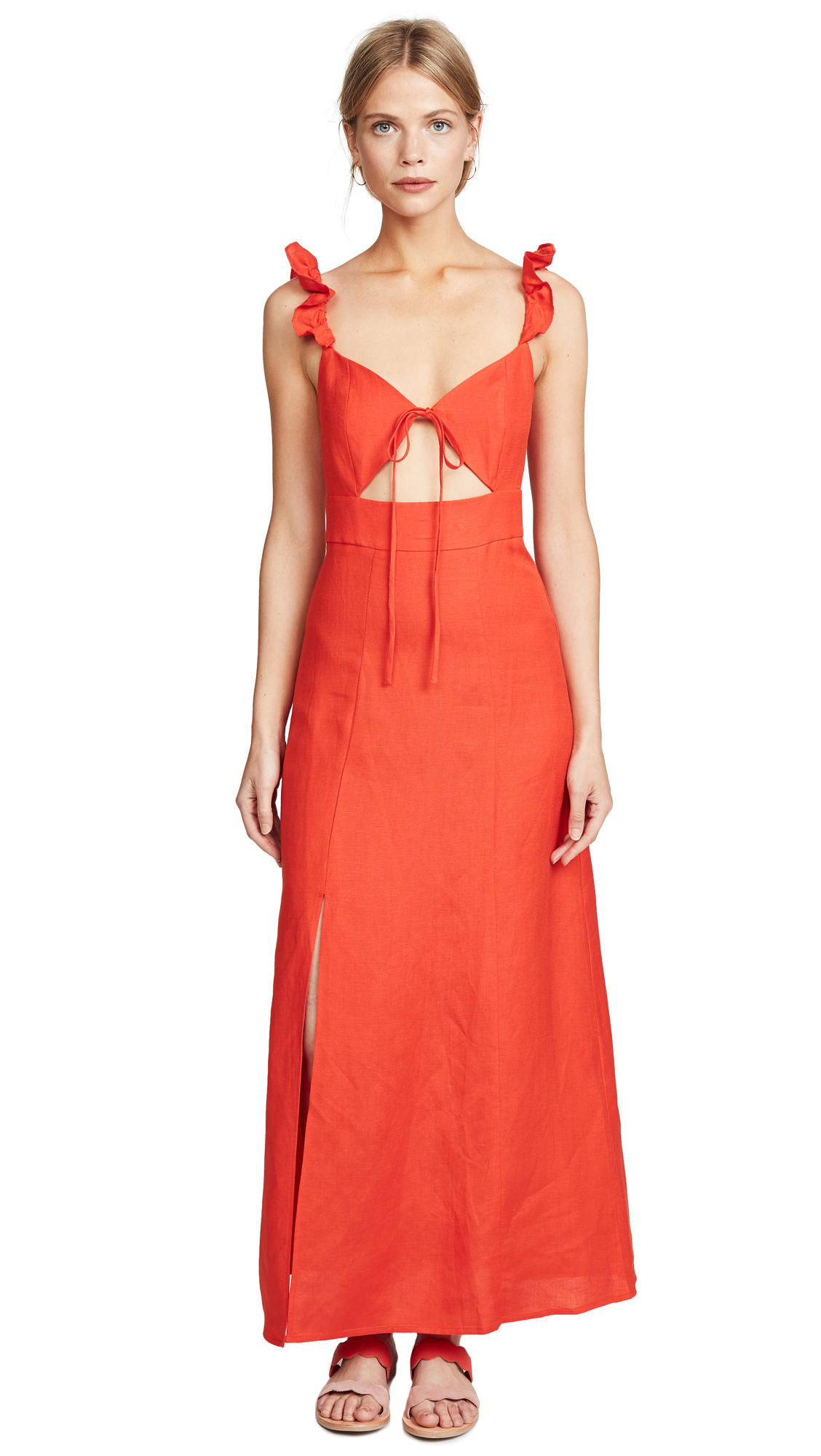 Capulet Nia Maxi Dress In Persimmon