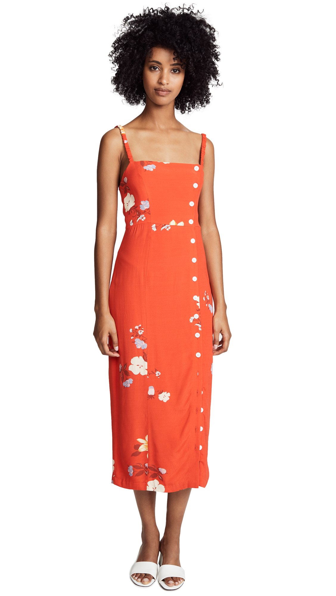 CAPULET Janette Midi Dress in Red Floral