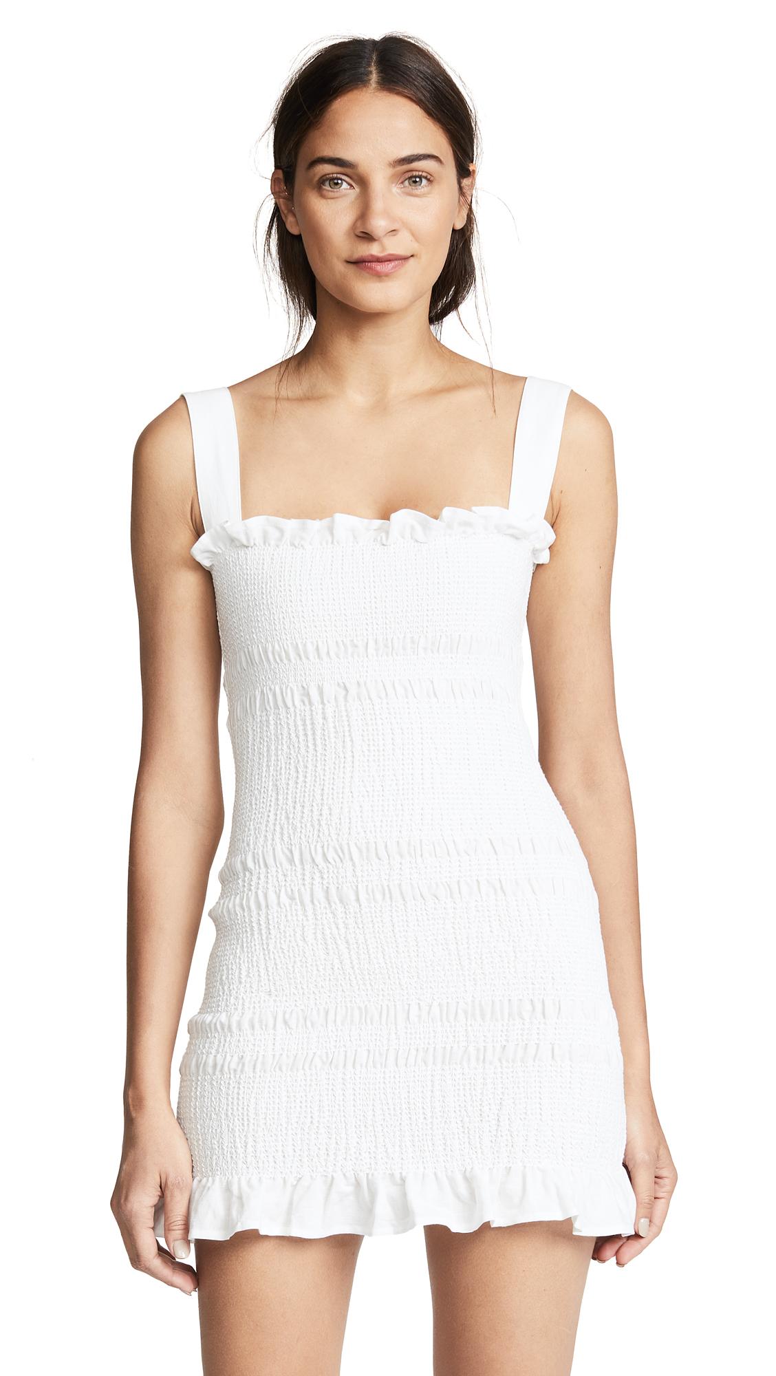 Capulet Viviane Smocked Mini Dress In White
