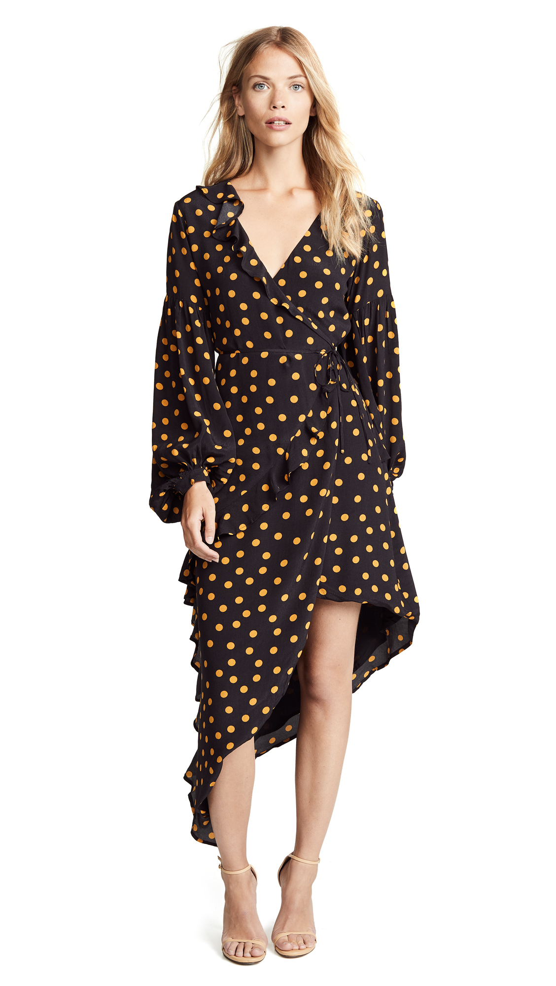 CAPULET Pansy Dress in Gold Dot