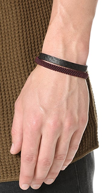 Caputo & Co. Hand Knotted Double Wrap Bracelet