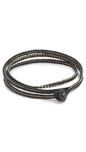 Caputo & Co. Macrame Knotted Triple Wrap Bracelet