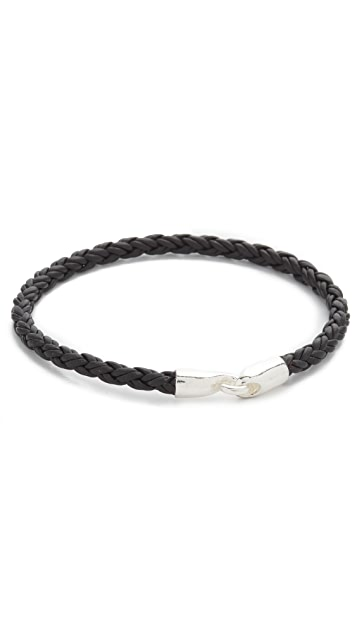 Caputo & Co. Unique Braided Leather with Silver Hook