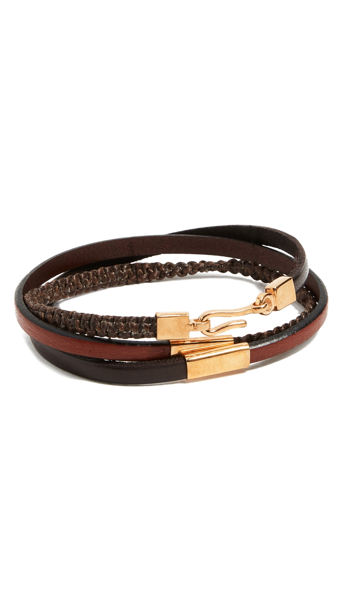 CAPUTO & CO. HAND KNOTTED TRIPLE WRAP BRACELET