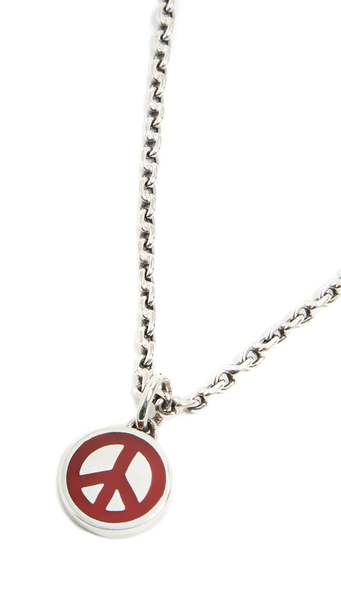 Caputo & Co. Peace Necklace - Red KPCp16Xqz