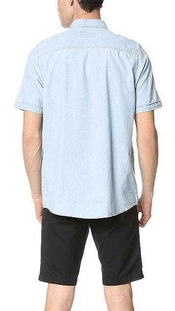 Carhartt WIP Edison Super Bleached Short Sleeve Shirt