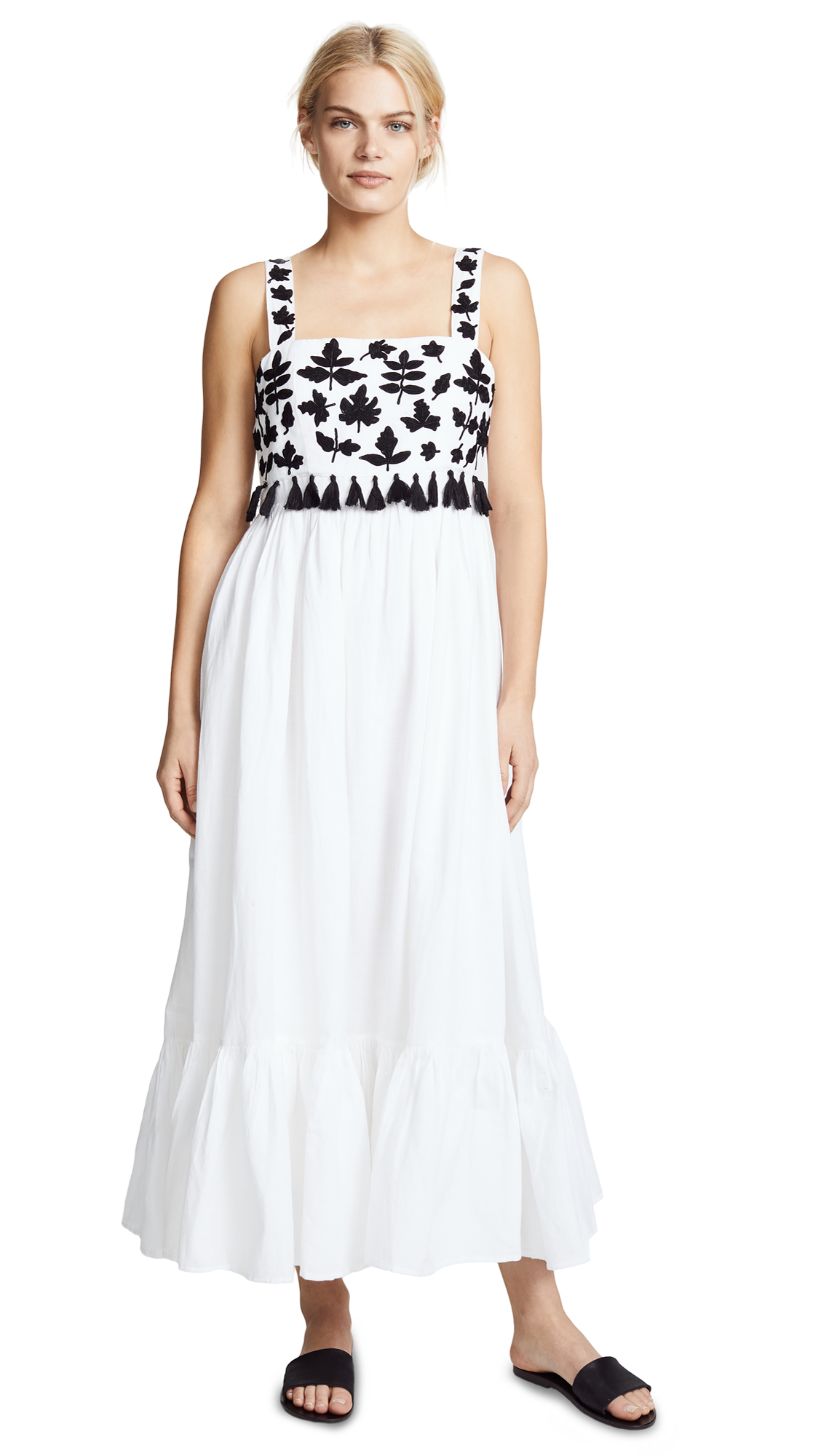Carolina K Terry Embroidered Dress