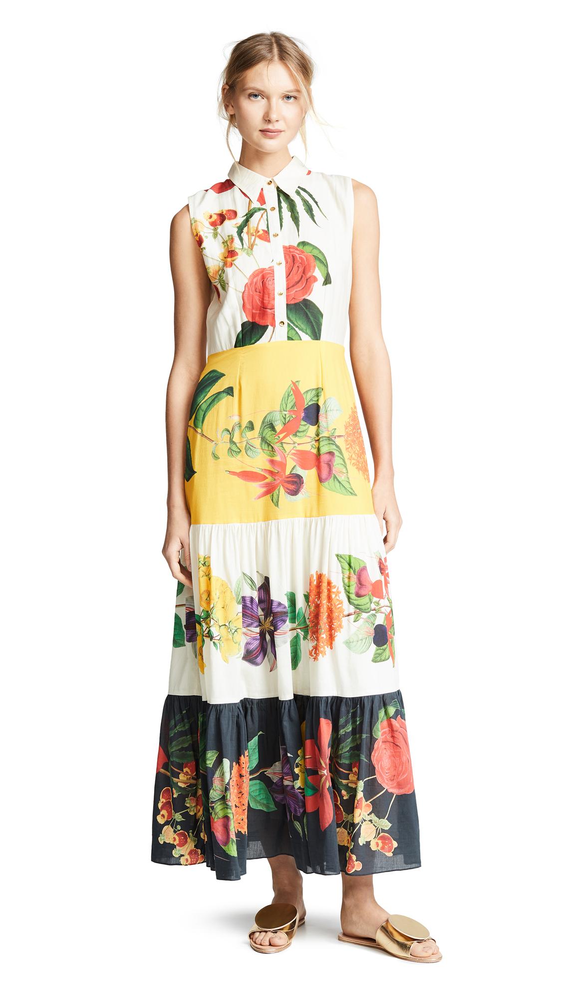 CAROLINA K Natalie Sleeveless Dress in Big Flower Multi