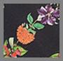 черная полоска с цветочным рисунком