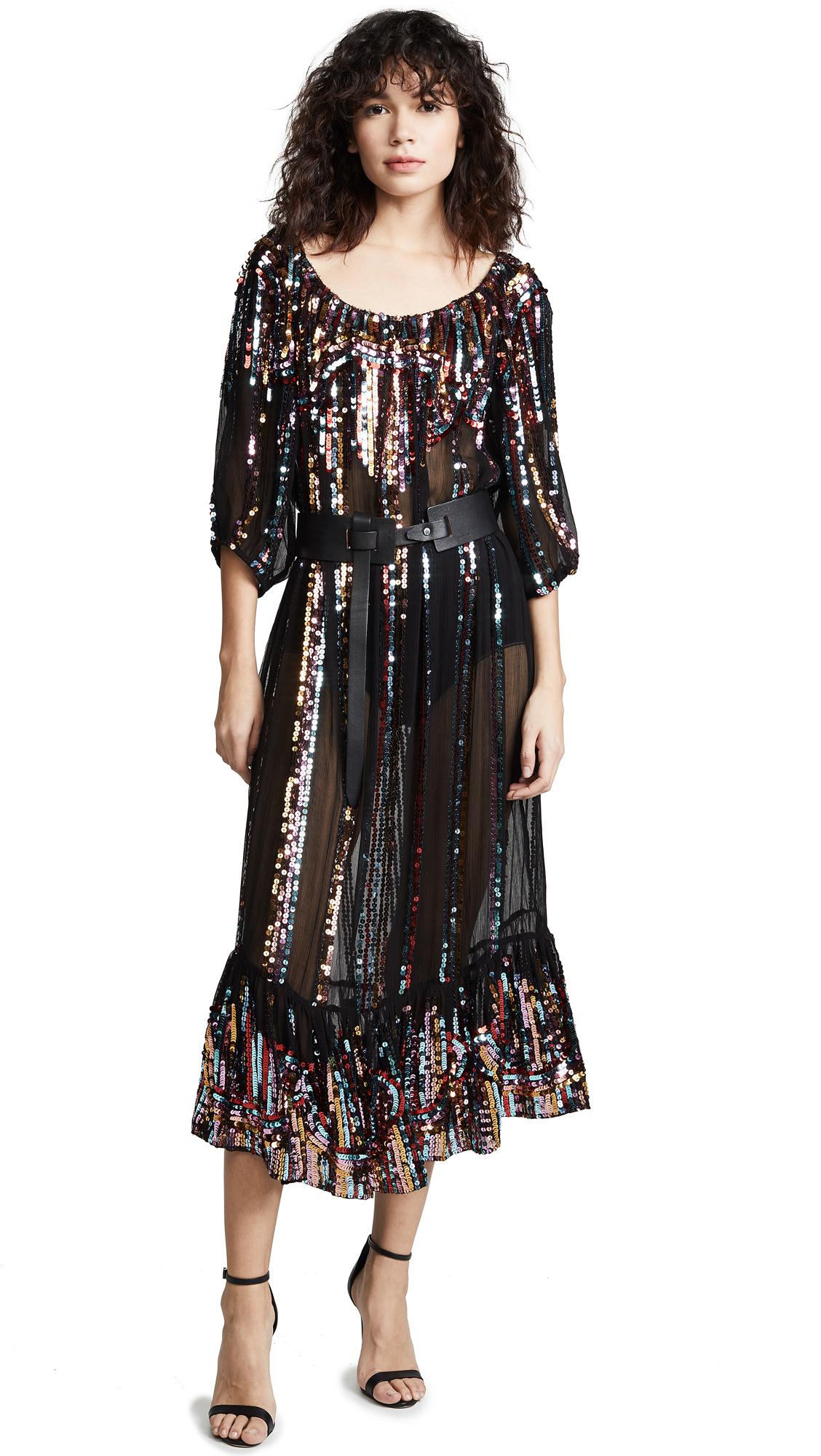 CAROLINA K Charo Dress in Lupe Stripe Black