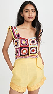 Carolina K Tile Crochet Top