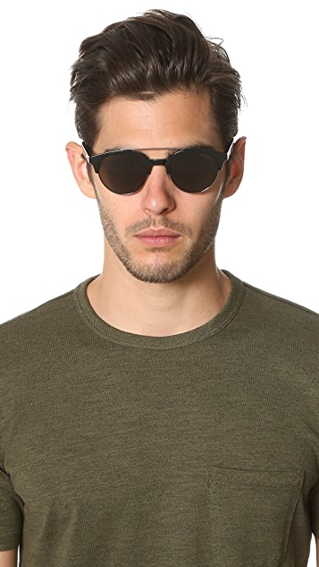Carrera Double Bar Round Sunglasses