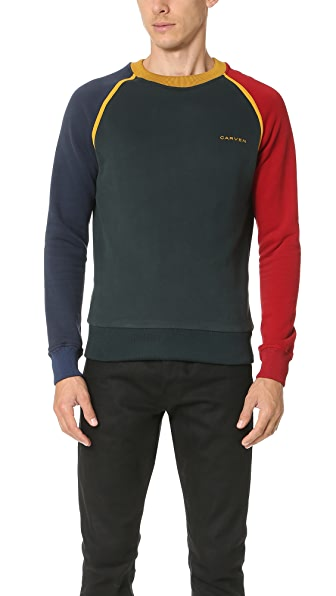 Carven Colorblock Logo Sweatshirt